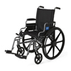 Medline K4 Basic Lightweight Wheelchair with Flip-Back Desk-Length Arms and Swing-Away Footrests, 300 lb. Weight Capacity, 18 Width MED MDS806500E18