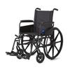 Medline Wheelchair, 18, Full-Length Arms, Swing-Away Foot MED MDS806500FLA