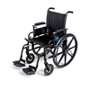 Medline K4 Lightweight Wheelchair with Height-Adjustable Swing-Back Desk-Length Arms and Swing-Away Footrests, 300 lb. Weight Capacity, 18 Width, 1/EA MED MDS806500PLUS