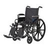 Medline Wheelchair, K4, Adj Desk-Length Arms, Elev Leg Rests, Anti-Tip MED MDS806550PLUS