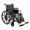 Medline Wheelchair, 18, Full-Length Arms, Elev Leg Rests MED MDS806650FLA