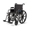 Medline K3 Basic Lightweight Wheelchairs, Black, 24 IN MED MDS806660E