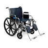 Medline Excel Wheelchair with Removable Desk-Length Arms and Elevating Footrests, 24