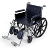 Medline Excel Wheelchair with Removable Full-Length Arms and Elevating Footrests, 24W MED MDS806950FLA