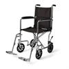 Medline Basic Transport Chair with Permanent Armrests and Detachable Swing-Away Footrests, 300 lb. Weight Capacity, 19 Width MED MDS808200