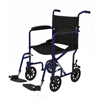 Medline Aluminum Transport Chair with 8 Wheels, Blue MED MDS808200ABE