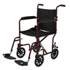 Medline Aluminum Transport Chair with 8 Wheels, Red MED MDS808200ARE