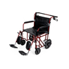 Medline Bariatric Transport Chair-Red MED MDS808200BAR
