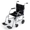 Medline Basic Steel Transport Chair with Permanent Restaurant-Length Armrests and Detachable Footrests, 300 lb. Capacity, 19 Width MED MDS808200E