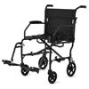 Medline Ultralight Transport Chairs, Black, F: 6  R: 8, 1/EA MED MDS808200F3BK