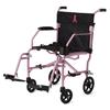 Medline Ultralight Transport Chairs, Pink, 8 Rear Wheels, 1/EA MED MDS808200F3P