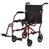 Medline Ultralight Transport Chairs, Red, F: 6  R: 8, 1/EA MEDMDS808200F3R