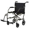Medline Ultralight Transport Chair, Silver MED MDS808200F3S