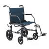 Medline Basic Transport Chair, Gray, 8, 1/EA MED MDS808200KDT