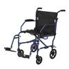 Medline Ultralight Transport Chair, Blue MED MDS808200F3B