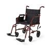 Medline Ultralight Steel Transport Chair, Red MED MDS808200W