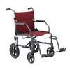 Medline Basic Aluminum Transport Chair with 12 Wheels, Gray, 12, 1/EA MED MDS808210KDR
