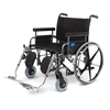 Medline Shuttle Extra-Wide Wheelchair (MDS809750) MED MDS809750