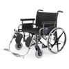 Medline Shuttle Extra-Wide Bariatric Wheelchair with Removable Desk Length Arms and Elevating Legrests, 30, 1/EA MED MDS809950