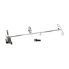 Medline Wheelchair O2 Holder/IV Pole Combo Units, 1/EA MEDMDS85190