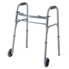Medline Youth Two-Button Folding Walkers with 5 Wheels, 4EA/CS MED MDS86410JW54B