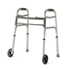 "Walkers: Medline - Youth Two-Button Folding Walkers with 5"" Wheels"