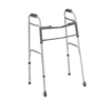 Medline Two-Button Folding Walkers with 3 Wheels, 4EA/CS MED MDS86410W4
