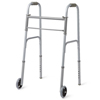 Medline Two-Button Folding Walkers with 5 Wheels, 4EA/CS MED MDS86410W54B