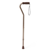 Medline Cane, Offset Handle, Bronze MED MDS86420BRZH