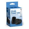 Medline Quad Cane Tips, Black MED MDS86424W4