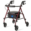 Medline Ultralight Rollators, Burgundy, 6