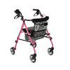 Medline Posh Pink Zebra Rollator MED MDS86835SHE