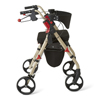 Medline Empower Rollator with 8 Wheels, Champagne and Crimson, 1/EA MED MDS86845CM