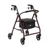 Medline Basic Rollators, Burgundy, 6