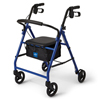 Medline Basic Steel Rollator, 6 Wheels, Blue MED MDS86850EBS