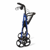 Medline Basic Steel Rollator, 8 Wheels, Blue MED MDS86850EBS8