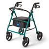 Medline Basic Steel Rollator, 8 Wheels, Green MED MDS86850EGS8