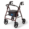 "Rehabilitation Devices & Parts: Medline - Basic Steel Rollator, 8"" Wheels, Red"