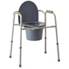 Medline Steel Bedside Commode, 4 EA/CS MEDMDS89664
