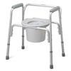 Medline Aluminum Bedside Commode, 16 - 20 Height Adjustable, 300 lb. Capacity, 4 EA/CS MED MDS89664A