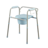 Medline Steel Commode with Microban MED MDS89664KDMB