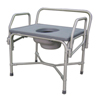 Medline Bariatric Drop-Arm Commode, 1 EA/CS MEDMDS89668XW