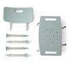 Medline Knockdown Bath Benches with Microban, Light Blue, 1 EA MED MDS89745KDMBH