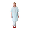 Medline Snuggly Solids Pediatric Pajama Shirt- Blue, Large MED MDT011277L