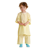 Medline Snuggly Solids Pediatric Pajama Shirt- Yellow, Small MED MDT011277S