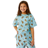 Medline Tired Tiger Print Pediatric Gowns MED MDT011389L