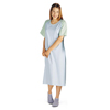 Medline Comfort-Knit Teen IV Patient Gowns- Blue MED MDT011370IV
