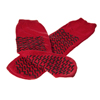 Medline Double-Tread Fall Prevention Patient Slippers, Red, Size XL MED MDT211218RXL