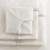 Medline Soft-Fit Knitted Bassinet/Crib Sheet, White Trim MED MDT218525