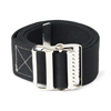 Medline Washable Cotton Material Gait Belts, Black, 1/EA MED MDT821203B